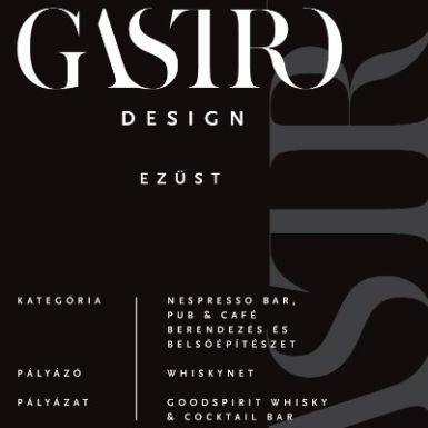 We won the Gastro Design 2017 Award