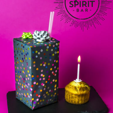 We're going to blow the first candle on the birthday cake of the GoodSpirit Bar!
